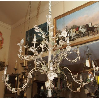 French Painted Tole and Iron Chandelier Preview