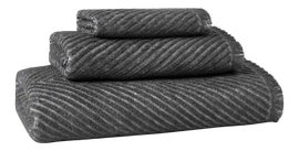 Image of Black Bathroom Towels and Textiles