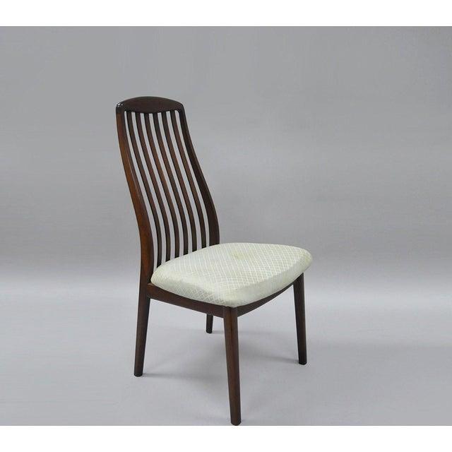 Vintage Dyrlund Mid Century Danish Modern Teak Dark Wood Dining Side Chair For Sale - Image 11 of 11