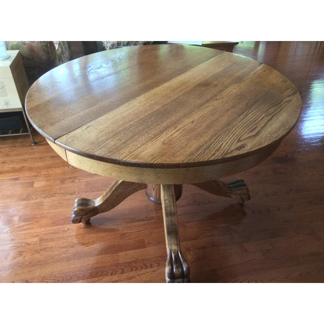 Antique Claw Foot Dining Table & 4 Chairs - Image 10 of 11