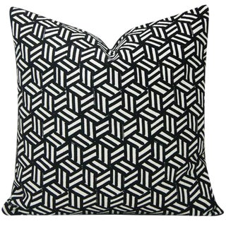 Miles Redd Tumbling Blocks Geometric Schumacher Pillow Cover For Sale