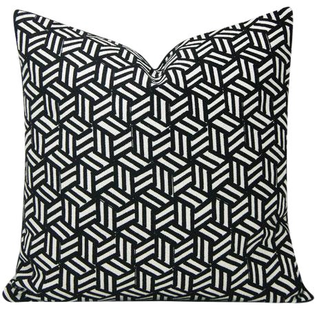 Miles Redd Tumbling Blocks Geometric Schumacher Pillow Cover For Sale