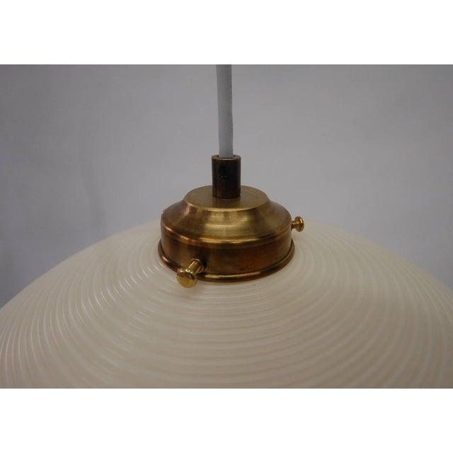 Mid-Century Modern Pair of Rotoflex Pendant Lights by Heifetz For Sale - Image 3 of 4