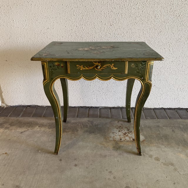Victorian 19th Century Hand Painted Side Table For Sale - Image 3 of 9
