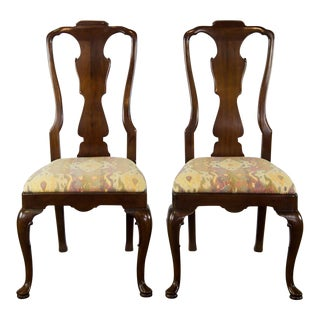 Henredon Aston Court Armless Dining Chairs - a Pair
