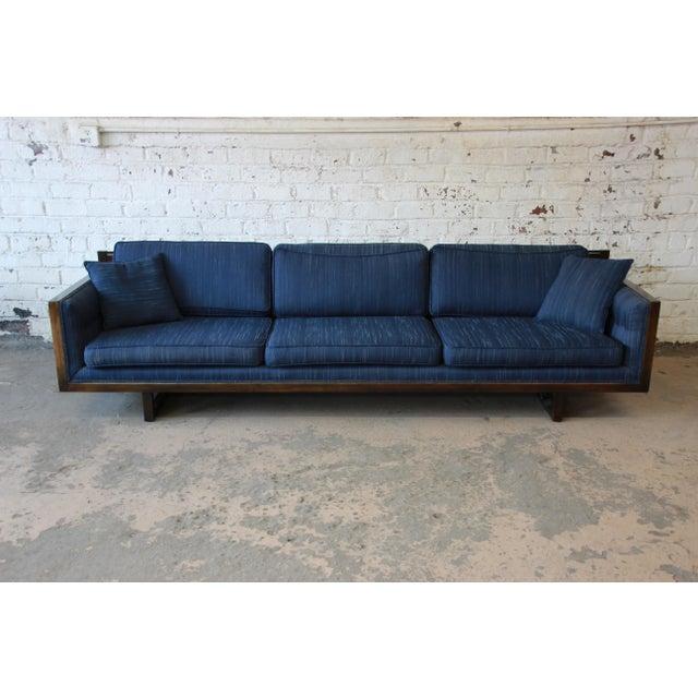 Mid-Century Modern Milo Baughman Style Mid-Century Modern Floating Sofa For Sale - Image 3 of 11