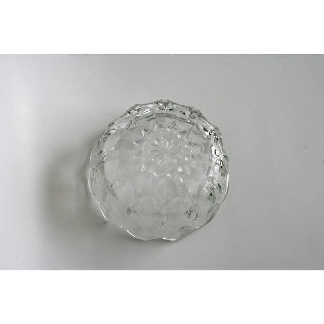 English Glass Flower Shaped Bowl For Sale - Image 3 of 5