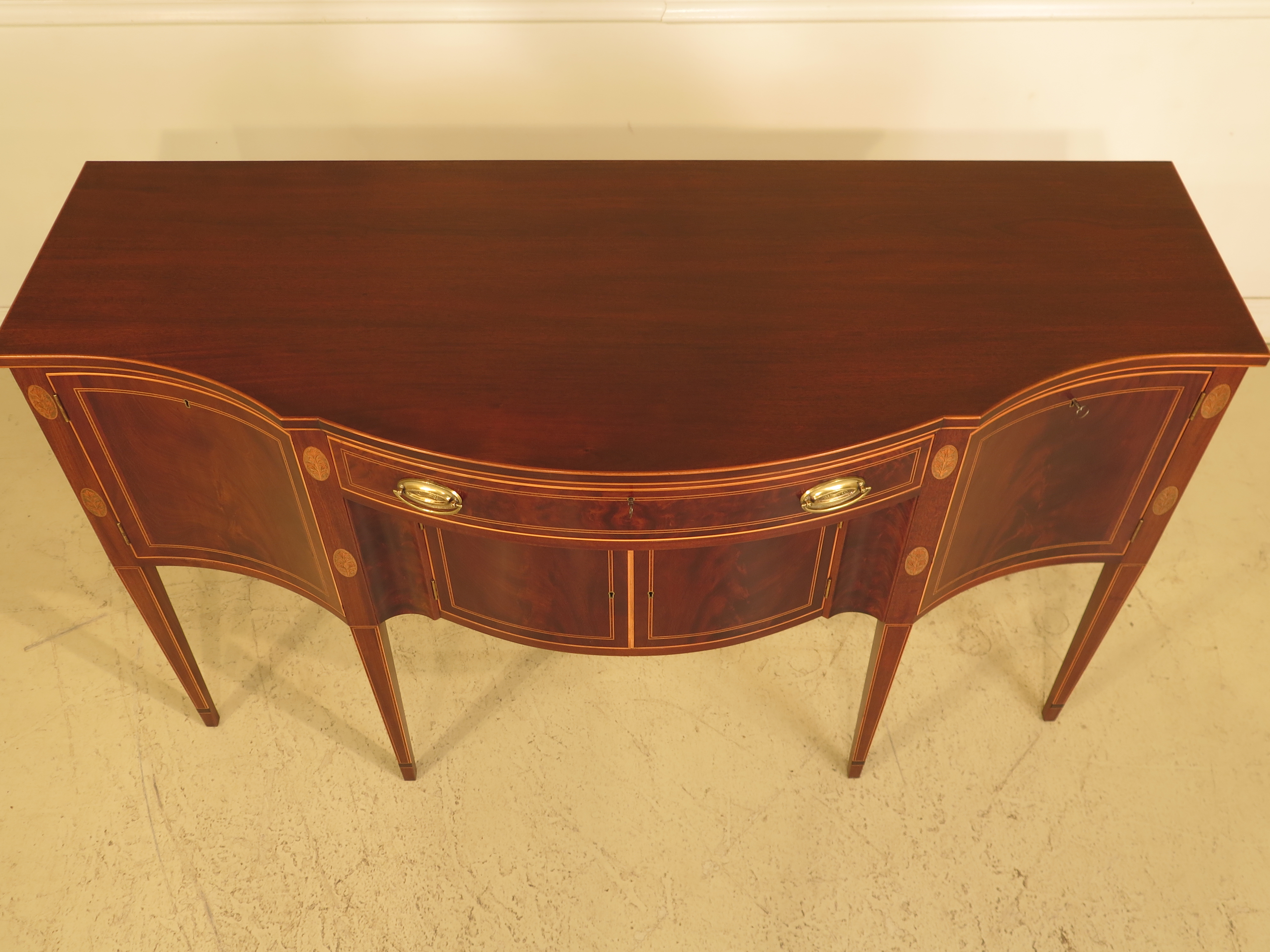 Potthast Inlaid Mahogany Federalist Sideboard For Sale   Image 4 Of 11