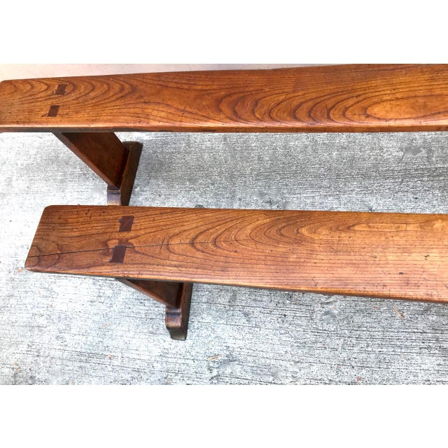 19th Century Antique Benches - a Pair For Sale In Los Angeles - Image 6 of 12