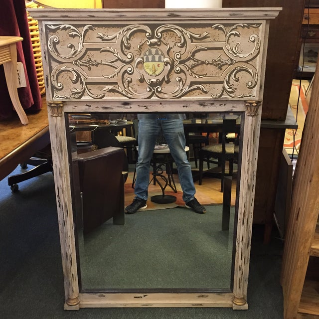 Toile Painted Wall Mirror - Image 2 of 7