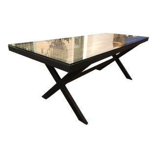 Industrial Reclaimed Metal & Wood Dining Table For Sale