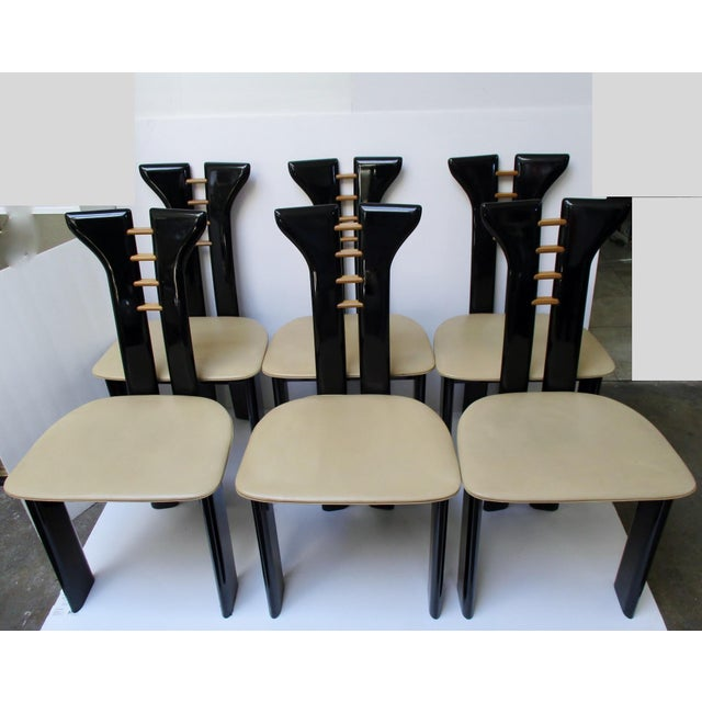 Vintage Italian Dining Chairs - Set of 6 - Image 2 of 11