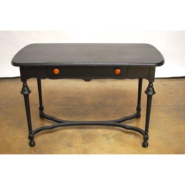 Black Antique Ladies Writing Desk - Image 2 of 7