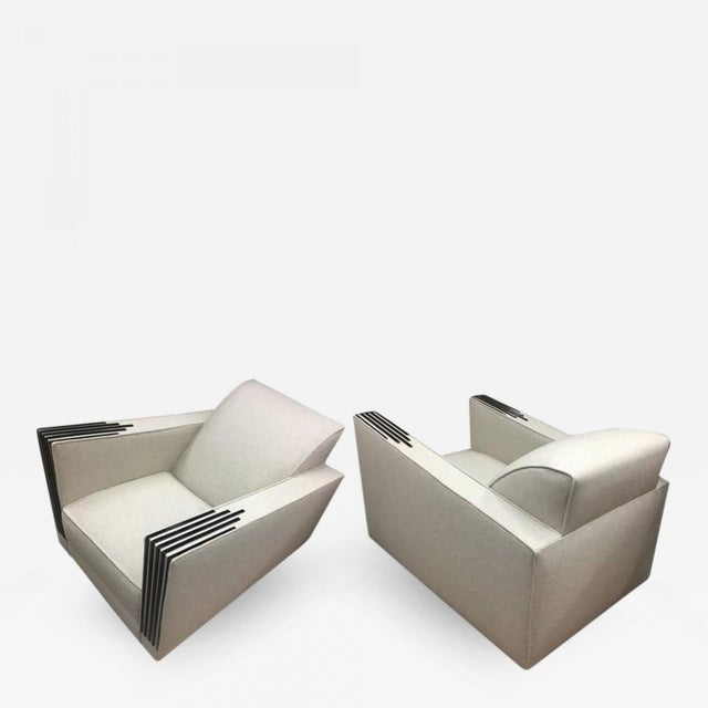 Roux Spitz Awesome Spectacular Rare Long Pair of Lounge Chairs For Sale - Image 6 of 6