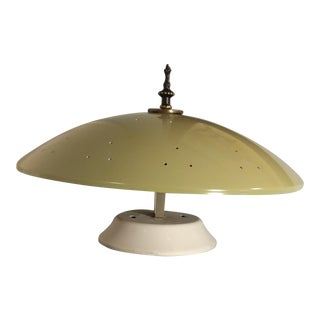 1950s Stilnovo Mid-Century Modern Flying Saucer Flush Mount For Sale