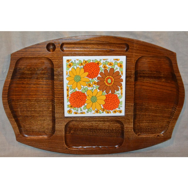 Vintage Gailcraft Wooden Cheeseboard For Sale In Philadelphia - Image 6 of 6