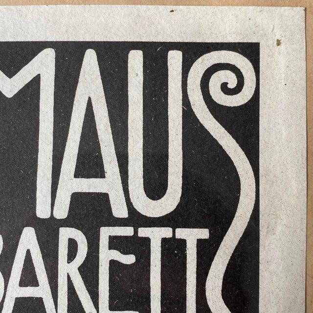 "1908 ""Berthold Loeffler Three Masks: Fledermaus Theater and Cabaret"" Original Lithograph, Framed For Sale In Philadelphia - Image 6 of 7"