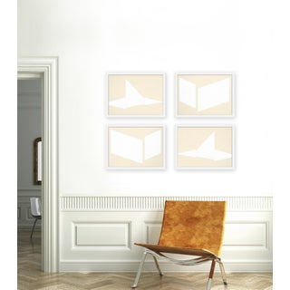 """Medium """"Compositions in Cream, Set of 4"""" Print by Jason Trotter, 40"""" X 30"""" Preview"""