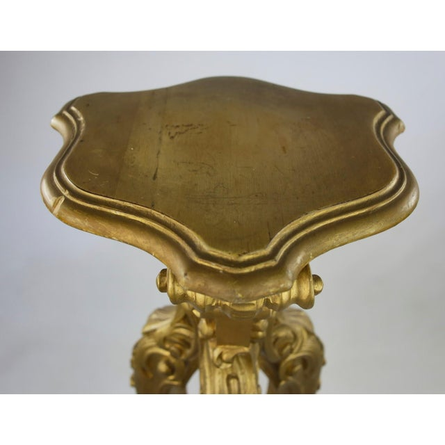 Rococo Style Gold Pedestal Stands - Pair - Image 8 of 8