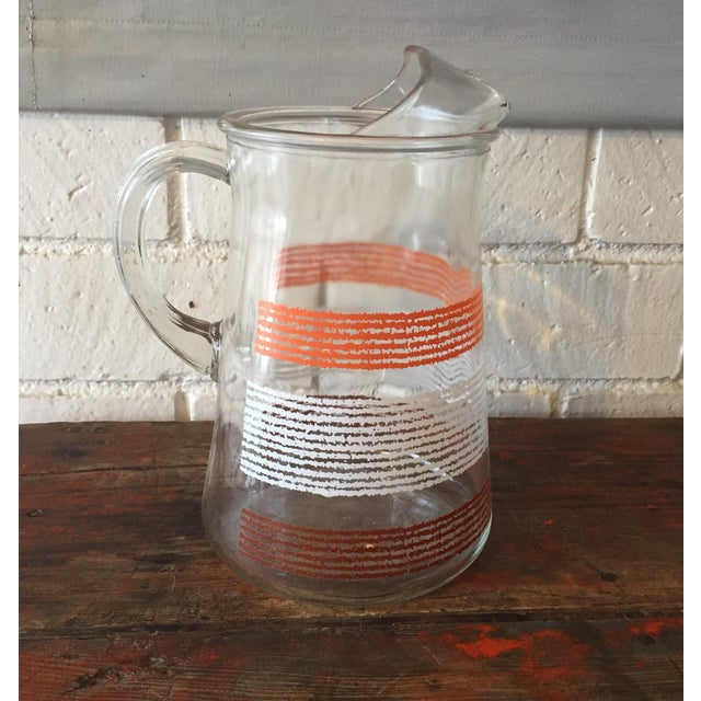 Libbey Glass Pitcher With Stripes - Image 2 of 5