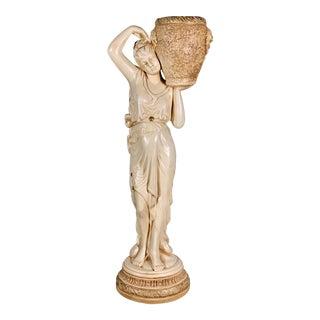 Mid-Century Vintage Tall Venus W/Amphora Cachepot Statue For Sale