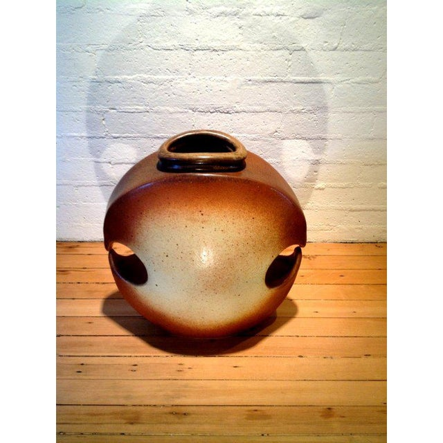 Contemporary A monumental studio pottery vessel signed Hammer For Sale - Image 3 of 6