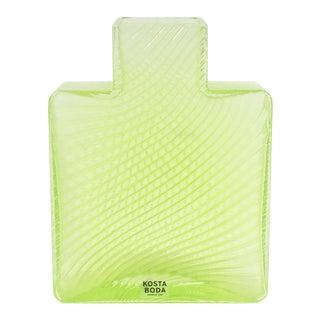 Striped Green Square Bottle Vase - Bertil Vallien for Kosta Boda For Sale