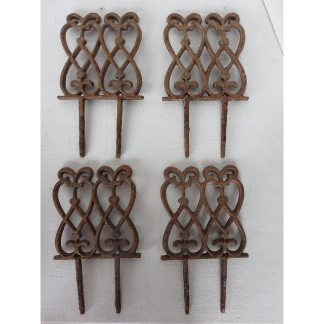 French French Iron Garden Stakes - Set of 4 For Sale - Image 3 of 3