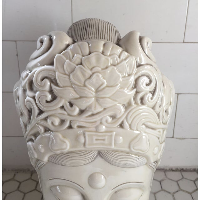 Chinese Blanc De Chine Quan Yin Goddess Head - Image 6 of 11