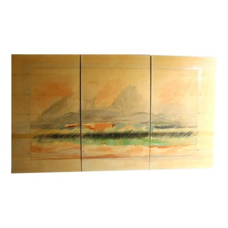 Large Scale Oil on Canvas Impressionist Landscape Triptic by Robert Savoie For Sale