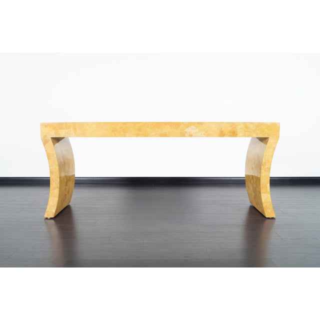 1970s Vintage Craquelure Console Table by Jimeco Itda For Sale - Image 5 of 9