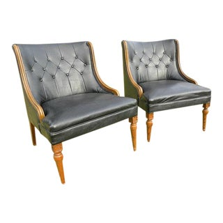 Vintage Mid-Century Accent Lounge Chairs - A Pair