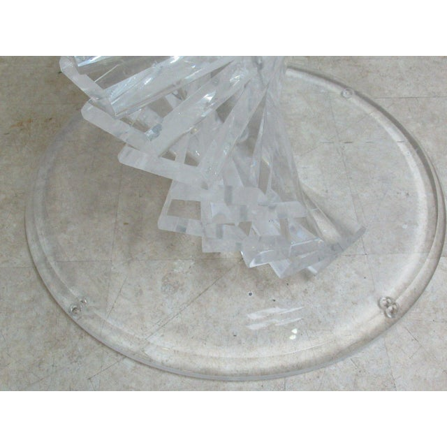 Vintage Interior Concepts Stack Lucite Dinette Dining Table For Sale - Image 5 of 11