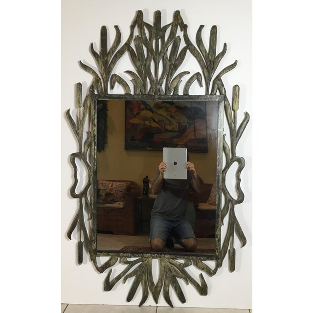Abstract Hollywood Regency Iron Cat Tail Wall Mirror For Sale - Image 13 of 13