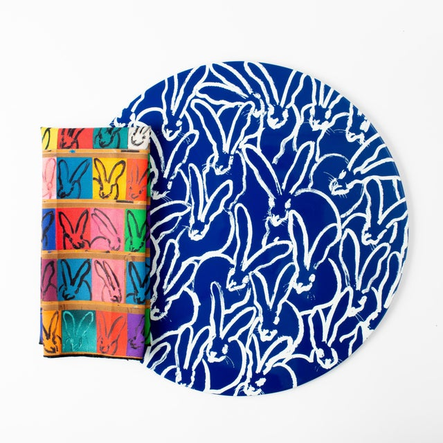 Our Rabbit Run Round Lacquered Placemat is now available in a beautiful bright blue with white bunnies. This limited...