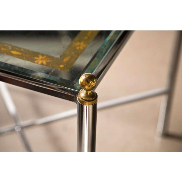 Jansen Mid-Century Style Chrome Side Tables - Pair - Image 3 of 7