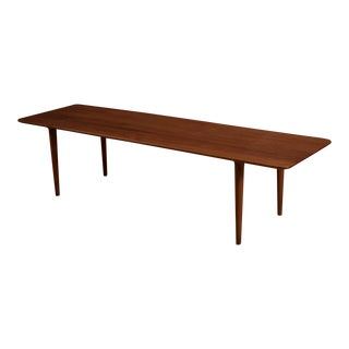 20th Century Scandinavian Solid Teak Coffee Table For Sale