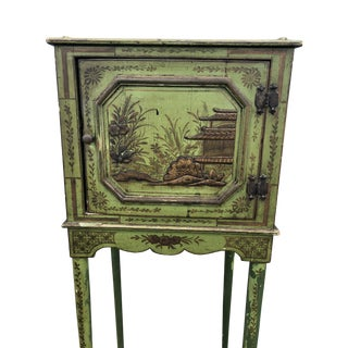 Chinoiserie Painted Apple Green Side Table For Sale