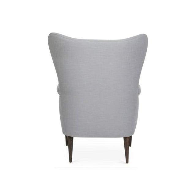 Mid-Century Modern Kim Salmela Olsen Wingback Chair For Sale - Image 3 of 6