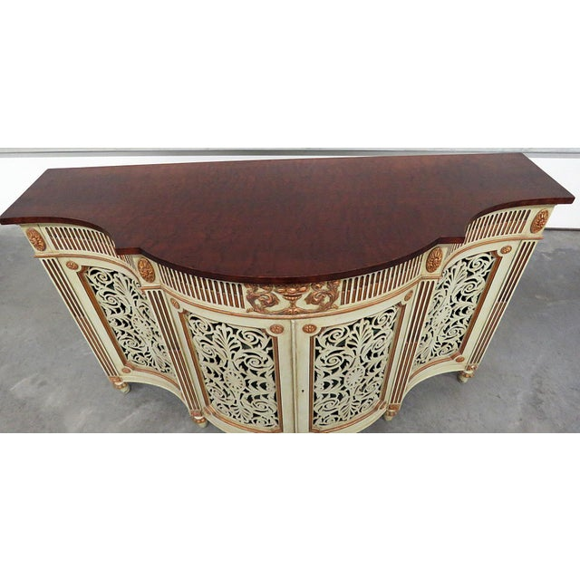 Adams Style Paint Decorated Commode For Sale - Image 4 of 8