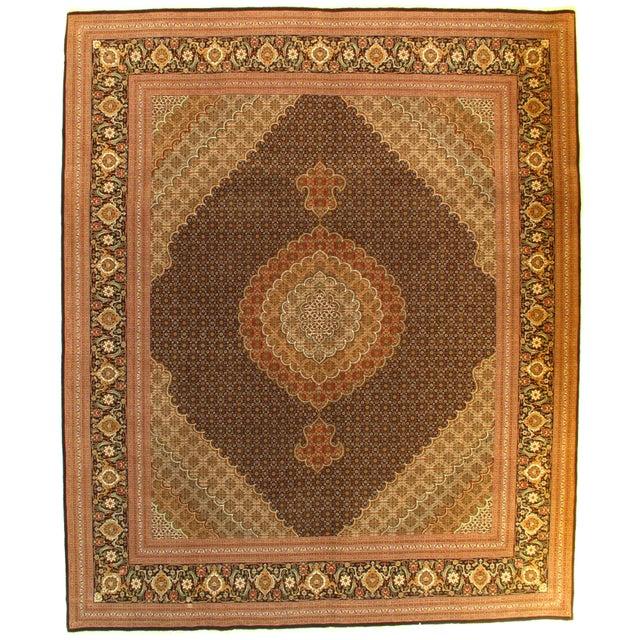 "Pasargad NY Persian Tabriz 60-Raj Rug - 8'6"" x 10'4"" For Sale - Image 5 of 5"