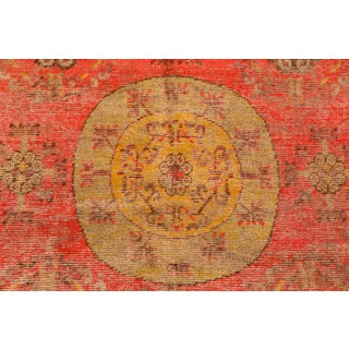 1920s Khotan Red and Yellow Wool Rug - 4′2″ × 7′ Preview