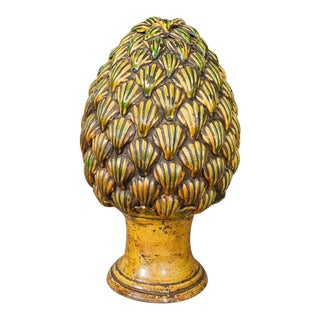 Italian Pottery Pinecone Finial For Sale