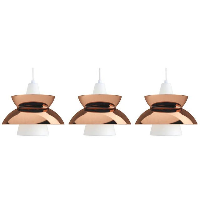 Danish Modern Danish Modern Jørn Utzon Copper 'Doo-Wop' Pendants for Louis Poulsen For Sale - Image 3 of 5