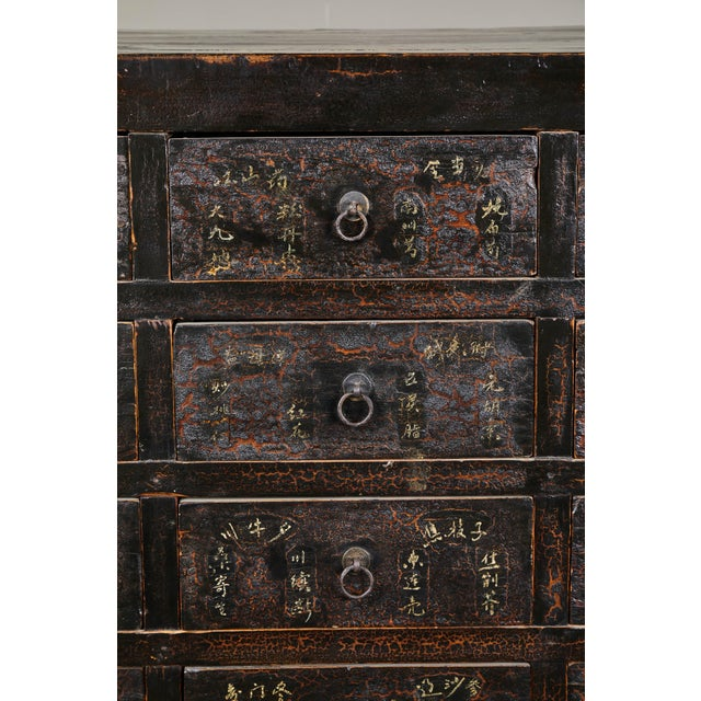 Metal 19th Century Chinese Apothecary Cabinet With Drawers For Sale - Image 7 of 9