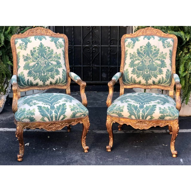 Minton-Spidell Mariano Fortuny Louis XVI Bergere Chairs - a Pair