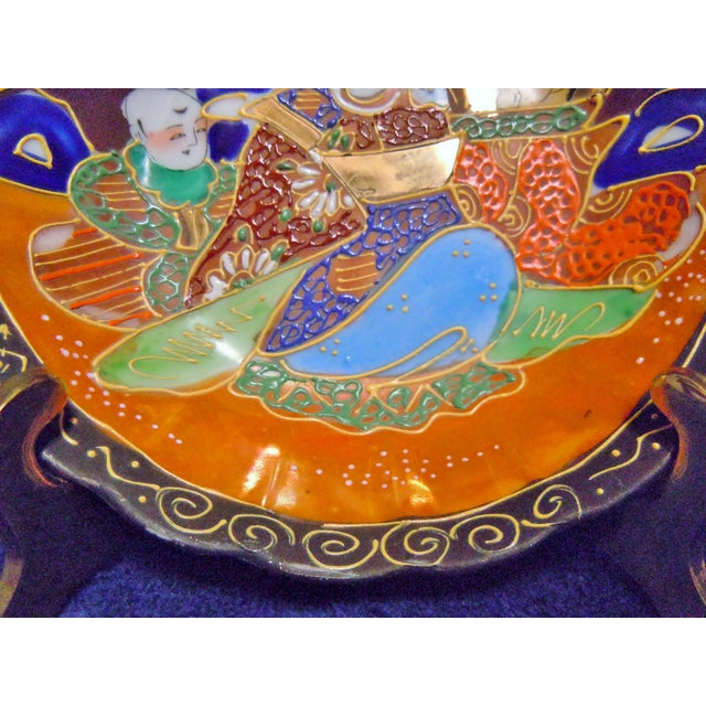 Asian Vintage Japanese Moriage Bowl For Sale - Image 3 of 7