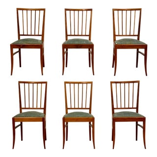 French Walnut Dining Chairs - Set of 6 For Sale