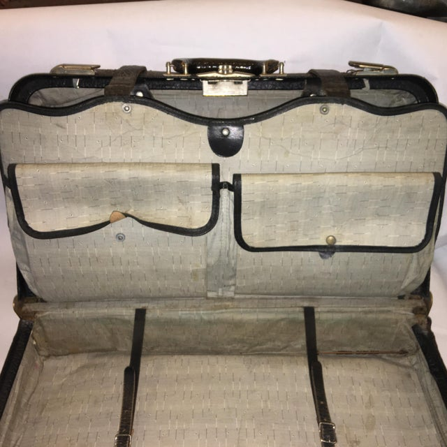 Animal Skin Vintage Carson Quality Seal Skin Suitcase For Sale - Image 7 of 11