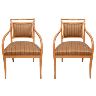 Pair of Empire Salon Chairs For Sale